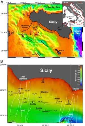 volcanes submarinos descubiertos en Sicilia