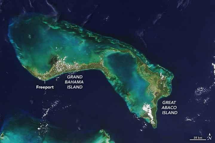 las Bahamas el 17 agosto, antes del huracán Dorian