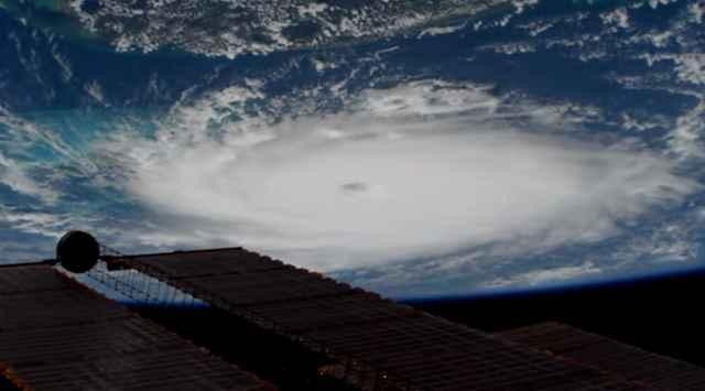 el huracán Dorian desde la ISS