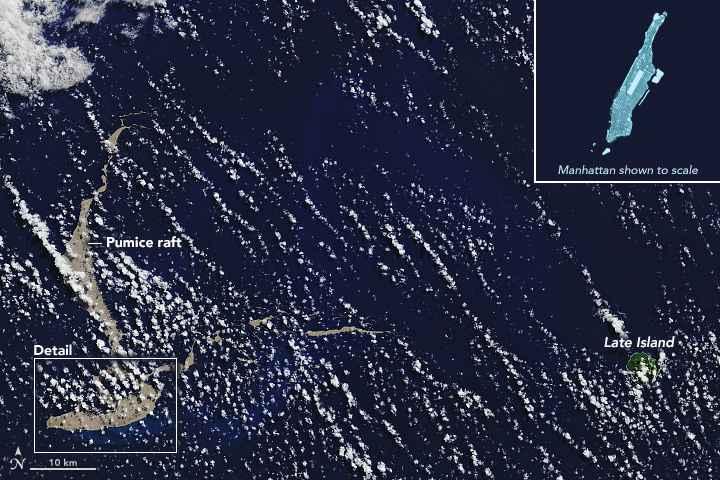 balsa de piedra pómez desde satelite
