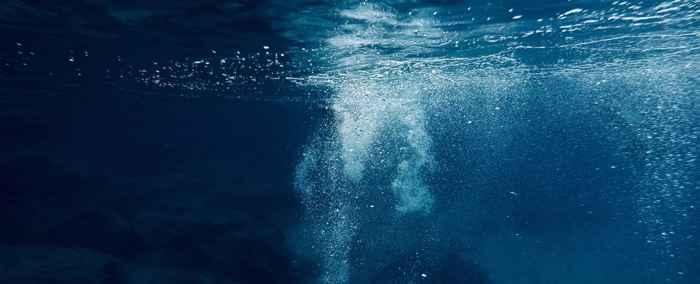 burbujas de metano en el océano