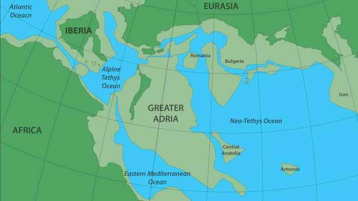 continente pendido Gran Adria