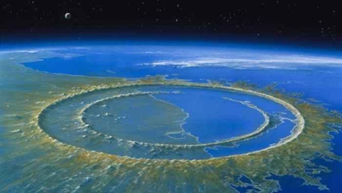 cráter original de Chicxulub