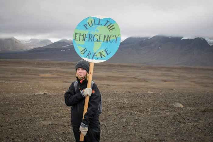 protesta por la desaparición de glaciares en Islandia