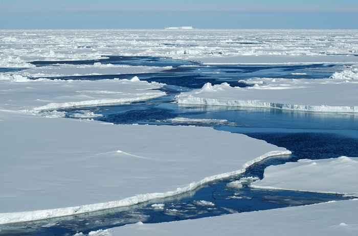 fusión del hielo marino del Ártico