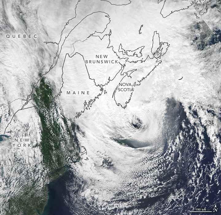 el huracán Dorian sobre Canadá