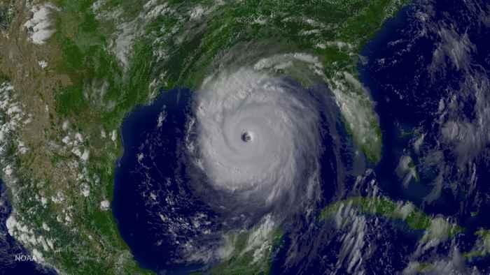 huracán Katrina desde satélite
