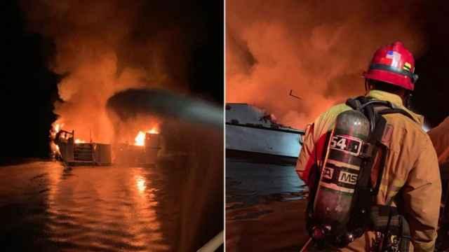 incendio en un barco de buceo en California