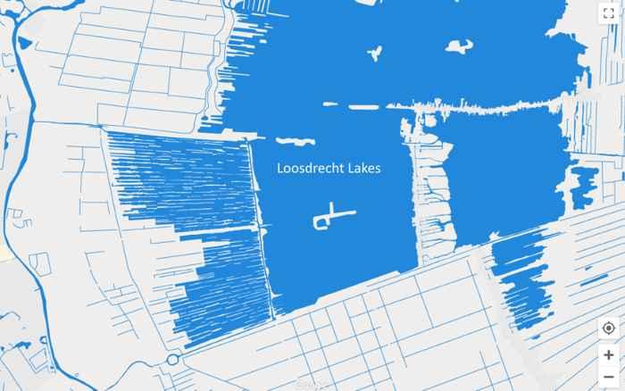 mapa de los lagos Loosdrecht