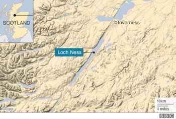 mapa del lago Ness