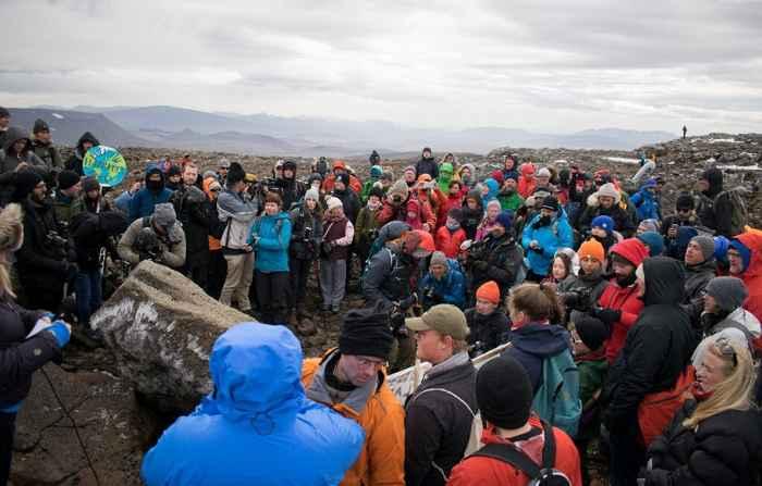 monumento a la desaparición del glaciar Okjokull