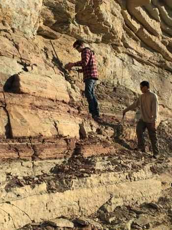 recogiendo muestras de antiguos océanos