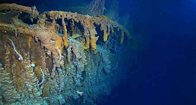 corrosión del Titanic en 4K