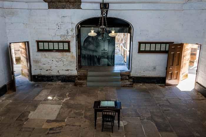 interior de la prisión de Port Arthur, Tasmania