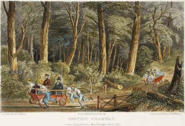 Tranvía de convictos de Port Arthur, Tasmania
