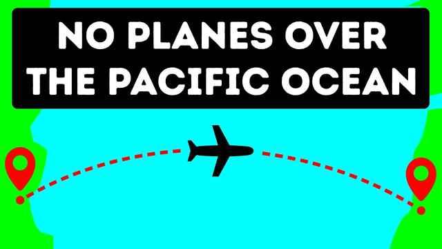 Los aviones no cruzan el Pacífico