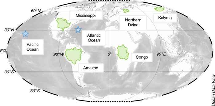 carbono negro océano, muestras recogidas