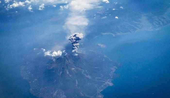 erupción del volcán Bogoslof
