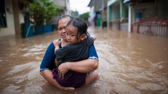 inundaciones en Yakarta