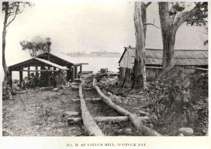raíles del tranvía de convictos de Port Arthur