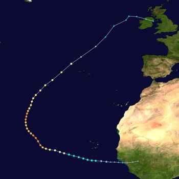 recorrido del huracán Lorenzo