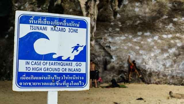señal de tsunami