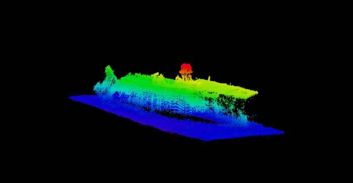 barco hundido en prueba atómica submarina