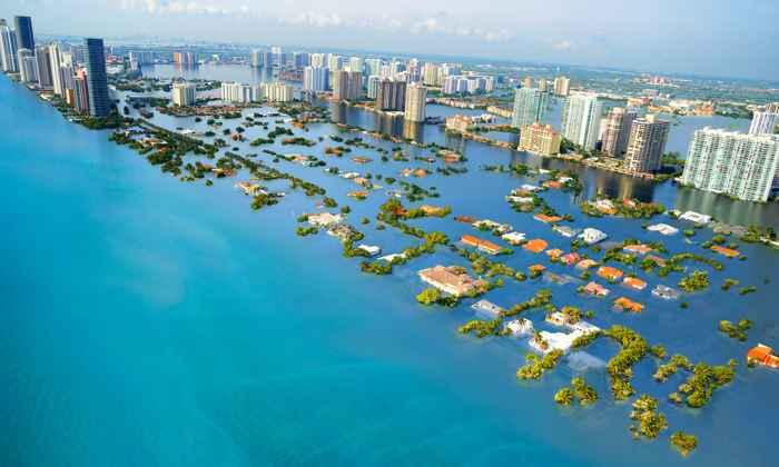 estimación de la subida del nivel del mar en Florida