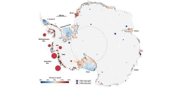 flujo de hielo en el océano