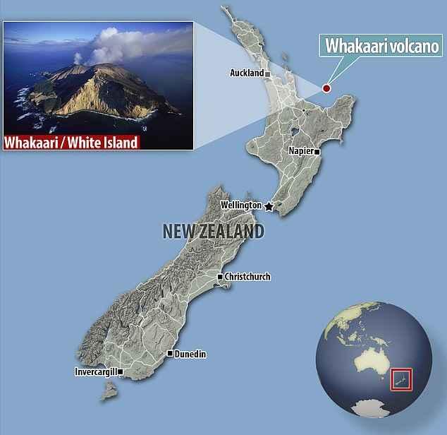mapa de la Isla Blanca de Nueva Zelanda