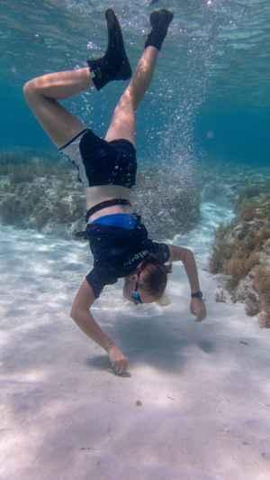recogida de sedimentos en Bahamas