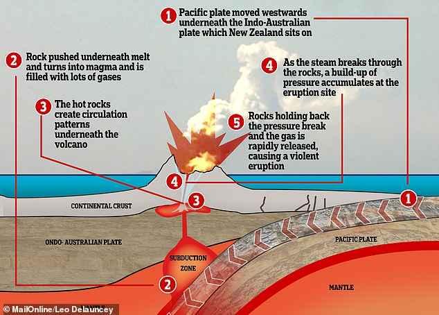 subducción de placas tectónicas
