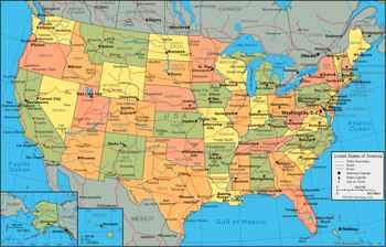 Gran Lago Salado en el mapa de EE.UU.