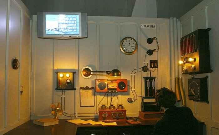 reconstrucción de la sala de radio del RMS Titanic