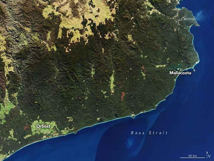 la costa de Australia en julio de 2019