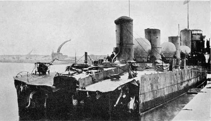 daños en el HMS Zulu