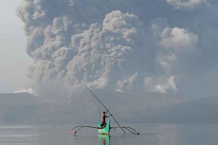 erupción de ceniza del volcán Taal, Filipinas