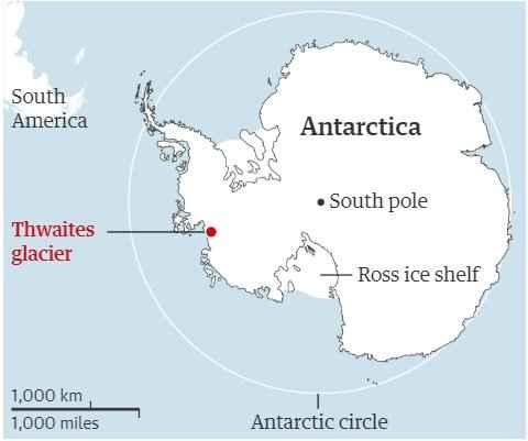 glaciar Thwaites mapa