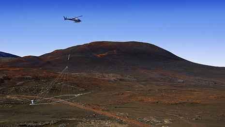 helicóptero con sensores