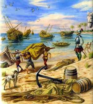 hundimiento de las naves de Hernán Cortés