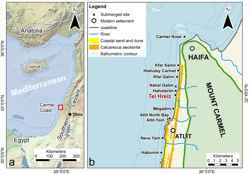 mapa de situación de Tel Hreiz