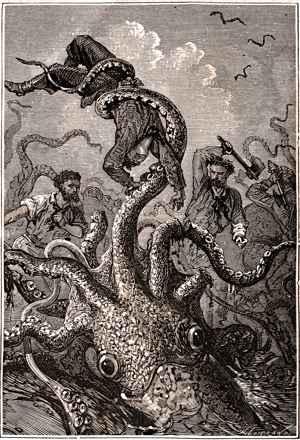 mito del calamar gigante