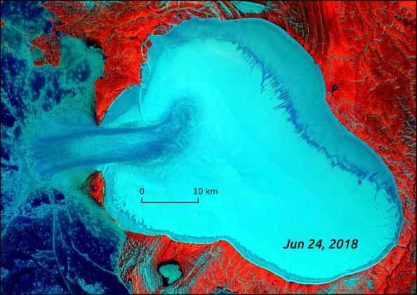oleada glaciar en Rusia