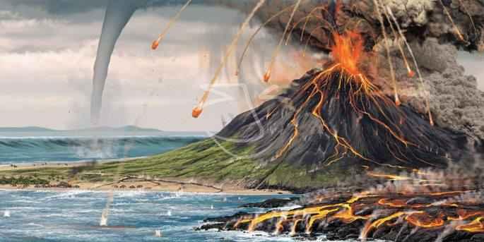tsunami volcánico