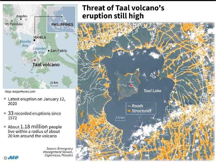 zona de exclusión del volcán Taal