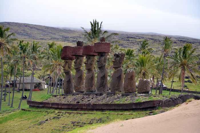 Centro cultural Ahu Nau Nau en la Isla de Pascua