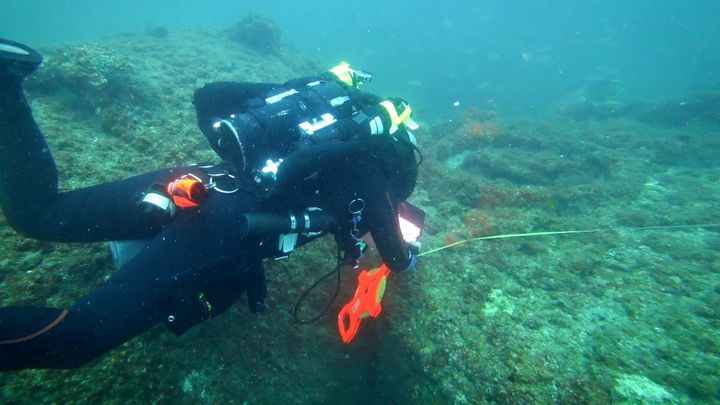 Michael Barnette busca los restos del SS Cotopaxi