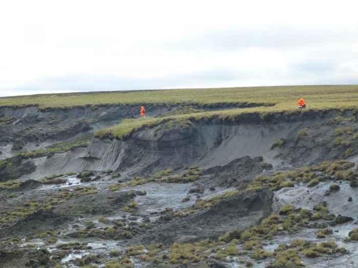 derrumbe de permafrost