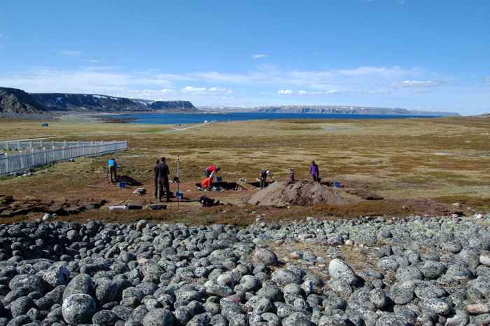 excavación del asentamiento Varanger