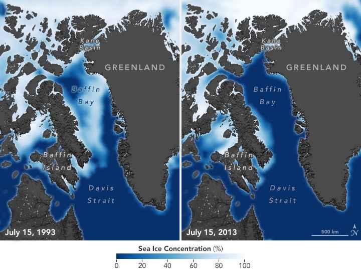 extensión del hielo marino 1993-2013